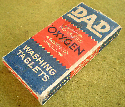 """Fabulous 4 1/2"""" Full Block Of Dad Washing Tablets.  Aussie Ww2 Made.   E.c. Too."""