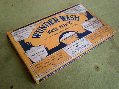 """AMAZING EARLY 7"""" FLAT BLOCK WUNDER-WASH SOAP in EC FOR AGE.  ADELAIDE MADE"""