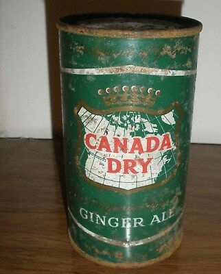 UNIQUE AND RARE 1950s ANCHORAGE ALASKA CANADA DRY GINGER ALE CAN NO ZIP FLAT TOP