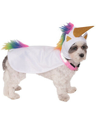 Dog Halloween Dress Up Costume Light Up Unicorn Cape With Hood