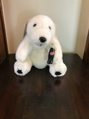 Coca Cola Brand Plush Collection Polar Bear Holding Coke Bottle 1993