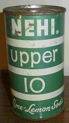 Rare Big Delta Alaska Nehi Upper 10 Lime Lemon Soda Can