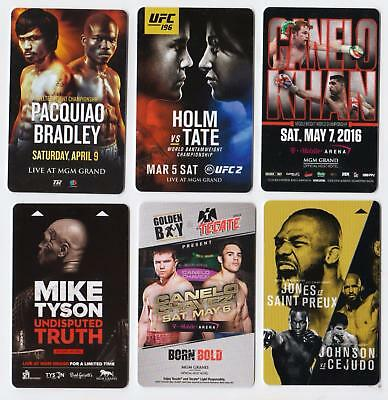 MGM GRAND casino*MGM Ufc/Boxing Fight Cards set #1 *Las Vegas hotel~6~ key cards