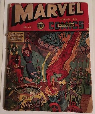 Marvel Mystery Comics #28 (1942) (Timely) (Schomburg Cover)