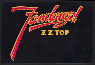 ZZ Top _VERY RARE ORIGINAL Fandango! Sticker - Warner Bros Records LP Promo VTG