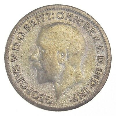 SILVER - 1931 Great Britain 6 Pence - World Silver Coin *519