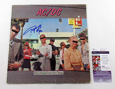 Angus Young Signed LP Record Album AC/DC Dirty Deeds Done Dirt Cheap w/ JSA AUTO