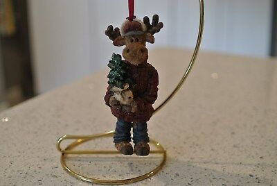 Boyds Bears Resin Christmas Ornament - MOOSE from Boyds Holiday Collection
