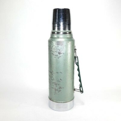 Vintage Stanley Aladdin Quart Hammered Green Thermos Stainless Steel A-944DH 24