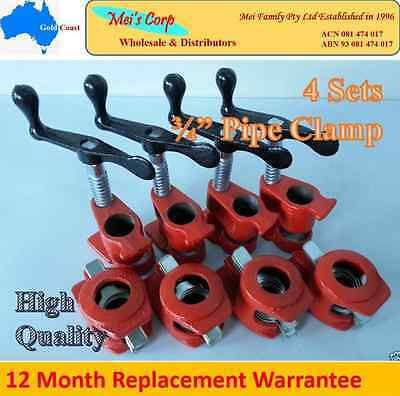 """Gluing Pipe Clamp 3/4"""" 4 Sets - Woodworking Vice Hand Tool"""