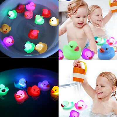 Cute LED Light-Up Goldfish Baby Bathing Bath Floating Water Sensor Induction Toy