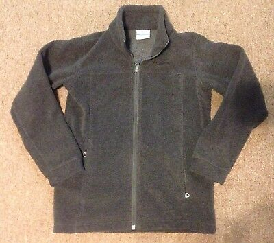 Columbia Gray Fleece Jacket Coat Full Zip Youth Size Medium 10 12 VGUC Warm