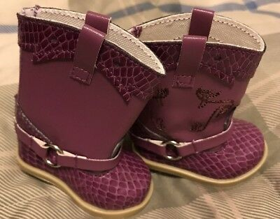 For American Girl Doll Purple Boots.