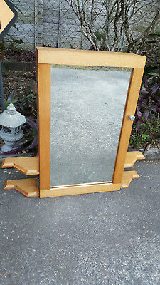 Timber Bathroom Mirrored Cabinet