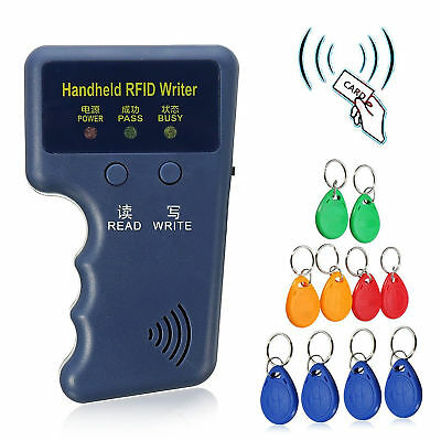 Handheld 125KHz RFID ID Writer/Reader Duplicator+10pcs EM4305 ID Cards Tag Set