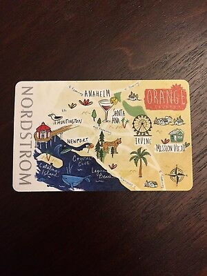 Nordstrom Orange County Gift Card New, Mint, Pin Covered