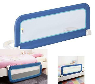 Single Safety Bed Rail Kids Guard For Baby Infant Cot Side Portable Barrier Blue