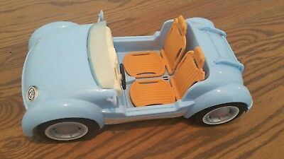 Mattel Barbie Beach Glam Cruiser Blue Convertible Sports Car 2006 vintage