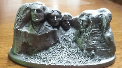 HUDSON VINTAGE Mt MOUNT RUSHMORE PEWTER 1982 MADE IN THE USA Presidents