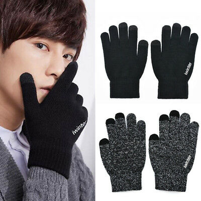 Lot Winter Touch Screen Gloves Men Women Warm Knitted Xmas Phone Gloves Gifts