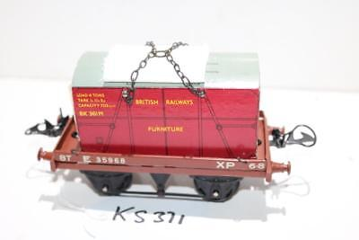 hornby flat truck with container nice one in box ks371