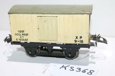 hornby  VENT INSUL MEAT CONVERTED TO A TRACK CLEANER 3 RAIL STEEL WHEELS k2928