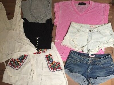 Womens Bulk Clothing Size 6 XS Forever New Minkpink Supre Blockout Shorts Tops