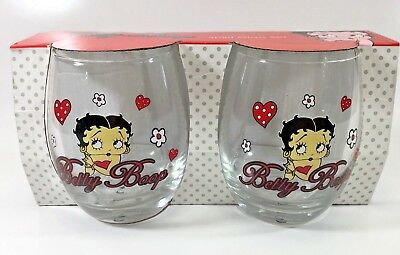 Betty Boop 2 Pack Scotch Spirits Glass Set Genuine Licensed Products