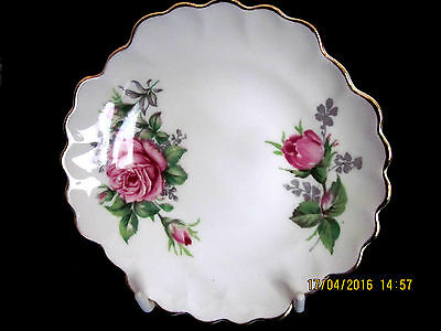 ~Vintage Adderley Floral Roses Small Pin Dish - Vgc~