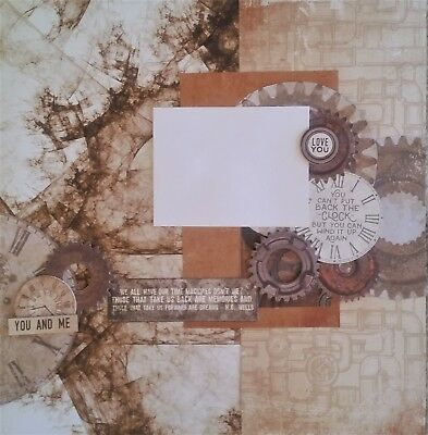 handmade premade scrapbook page layout 12 X 12 - You & Me