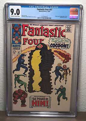 Fantastic Four #67 (1967) CGC 9.0 VF/NM OW/White Pages 1st app. Him (Warlock)