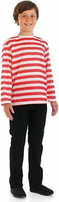 Boys / Girls Red and white top Book Week Fancy Dress Costume Wally