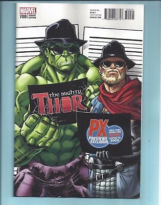Mighty Thor 700 Nycc Px Todd Nauck Exclusive Variant Legacy Death Nm