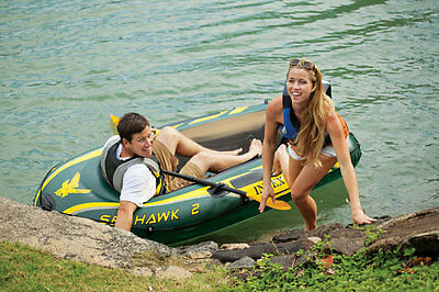 Intex Rubber Dinghy Seahawk 2 Set incl. 2 Paddle and luftpumpe- 68347