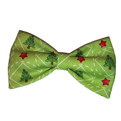 Christmas Trees Bow Tie - Clip on Bowtie - Holiday