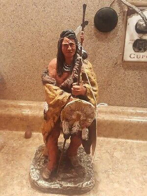 Daniel Monfort Western Sculpture Indian Warrior Statue
