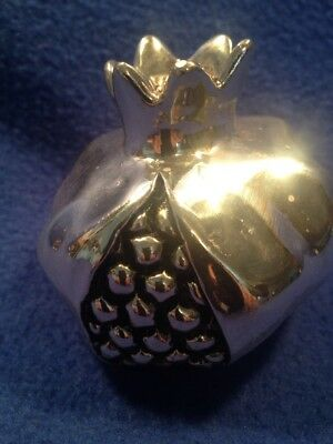 vintage sterling silver Pomegranate Mark 9.25 Great Piece 3 X3x2-1/2 Inch Tall
