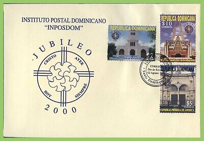 Dominican Republic 2000 Holy Year set on First Day Cover