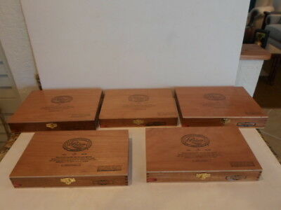 """Lot Of 5 Padron """"empty"""" Wood Cigar Boxes   Good Condition"""