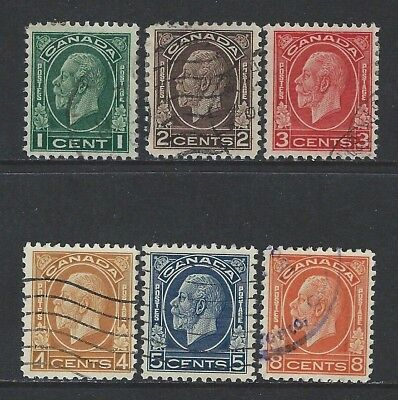 Canada - #195-#200 - King George V Medallion Issue Used Stamps