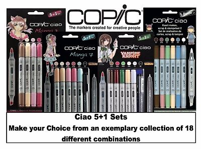 Copic Ciao Marker 5+1 Various Popular Manga Skin Pastels Combinations Sets