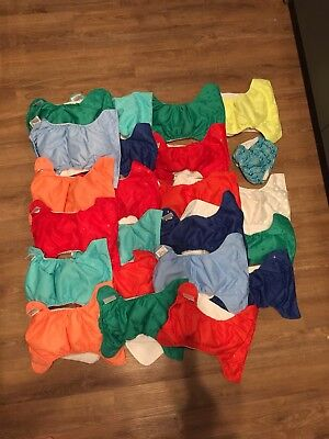 Bum Genius bumgenius freetime 4.0 AllIn One Lot Of 22 Cloth Diapers 1 iPlay swim