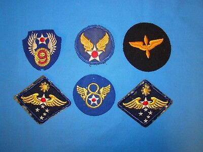 Nice WWII Wool, AAF Patch Lot (11)