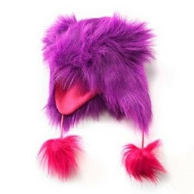 Faux Fur Earflap Hat With Ears And Pom Poms ~ New With Tags MSRP $22.00