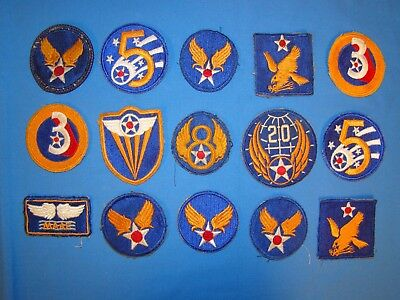 Nice WWII  AAF Patch Lot (12)