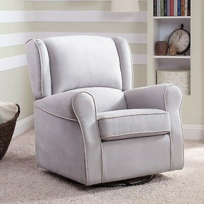 Delta Children Morgan Upholstered Glider (Gray)