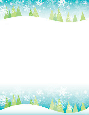 Great Papers! Snowy Trees Letterhead 100 Printer Paper Sheets