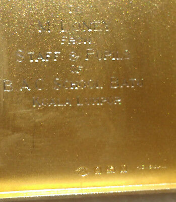 Adie Brothers LTD Birmingham, 1920 silver case with inscription
