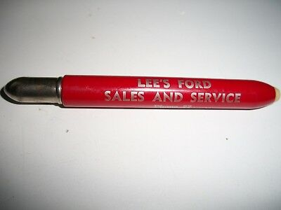 old vintage Lee 's Ford Sales and Service bullet pen Dundee,Michigan,Mich.Mi
