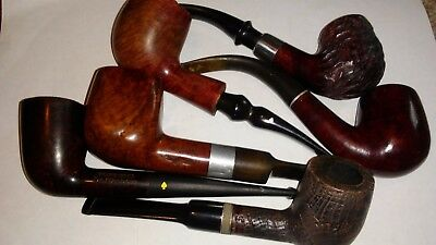 Lot of 6 Vintage Tobacco Estate Pipes
